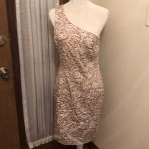 Liz Claiborne one shouldered floral print dress.